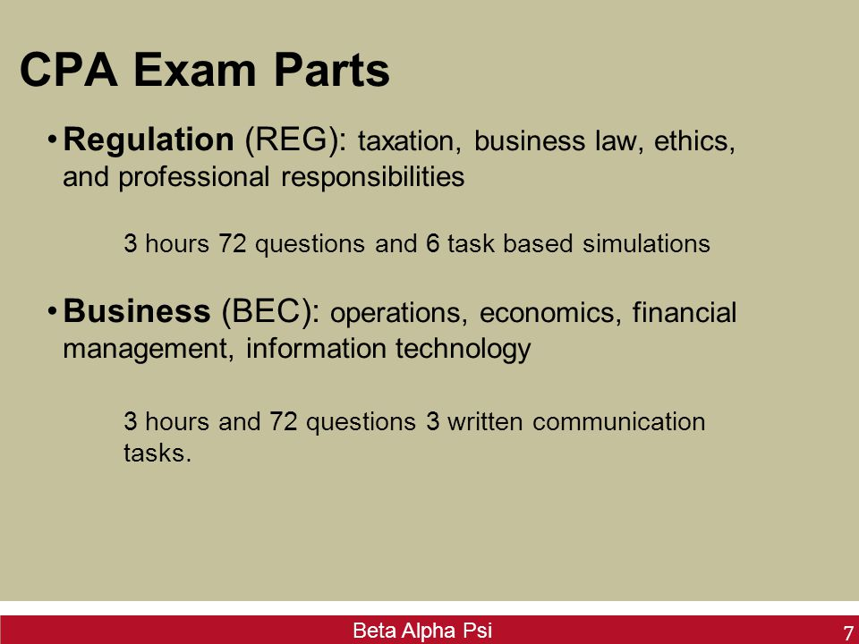 CPA Exam  Beta Alpha Psi What is a CPA? CPA stands for