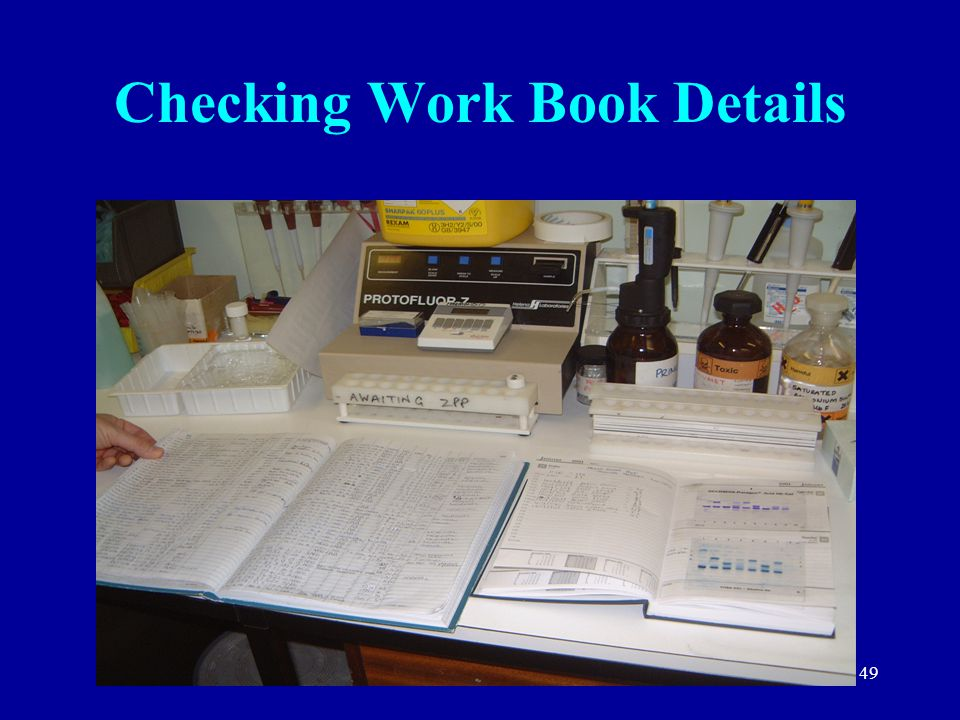 49 Checking Work Book Details