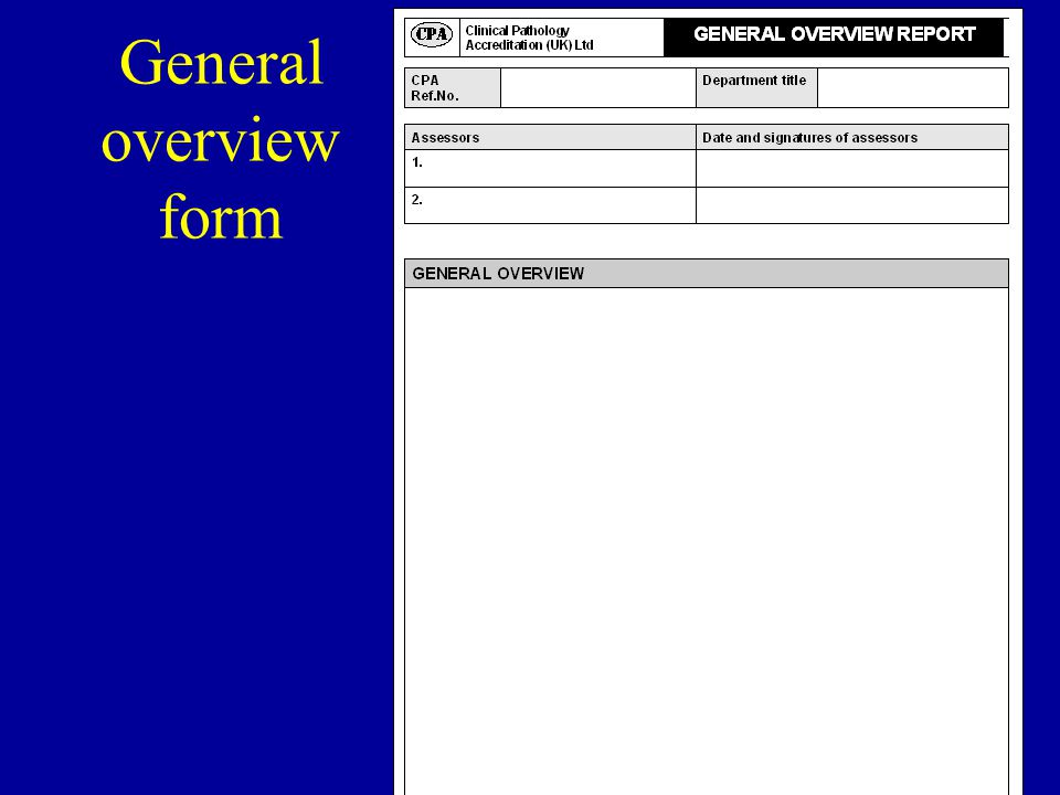 55 General overview form