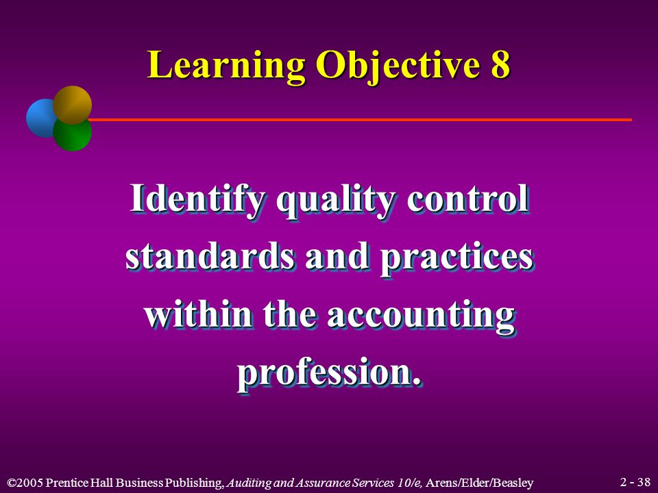 ©2005 Prentice Hall Business Publishing, Auditing and Assurance Services 10/e, Arens/Elder/Beasley International Standards on Auditing IFAC is the worldwide organization for the accountancy profession.