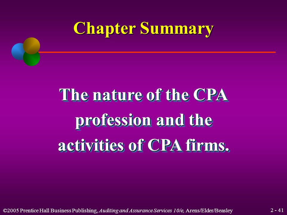 ©2005 Prentice Hall Business Publishing, Auditing and Assurance Services 10/e, Arens/Elder/Beasley Relationships Quality control standards Generally accepted auditing standards Division of CPA firms Peerreview