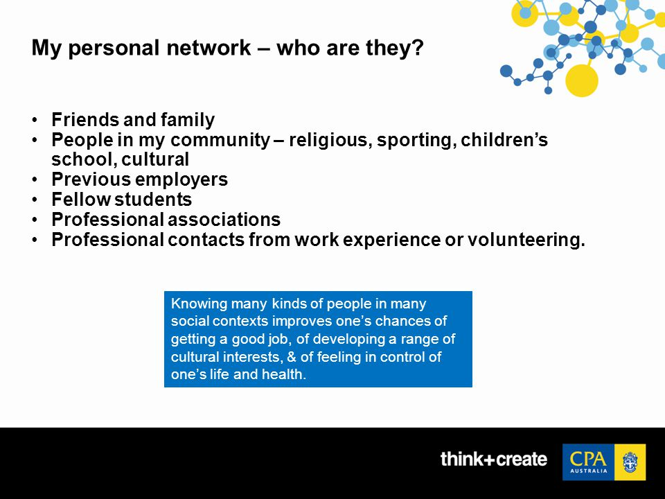 My personal network – who are they.