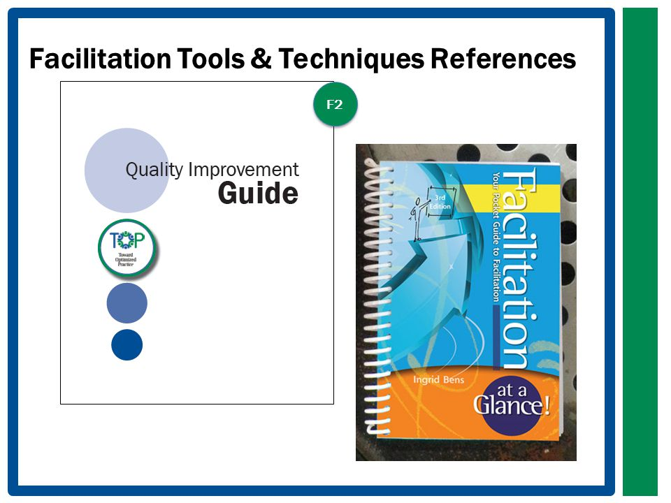 Facilitation Tools & Techniques References F2
