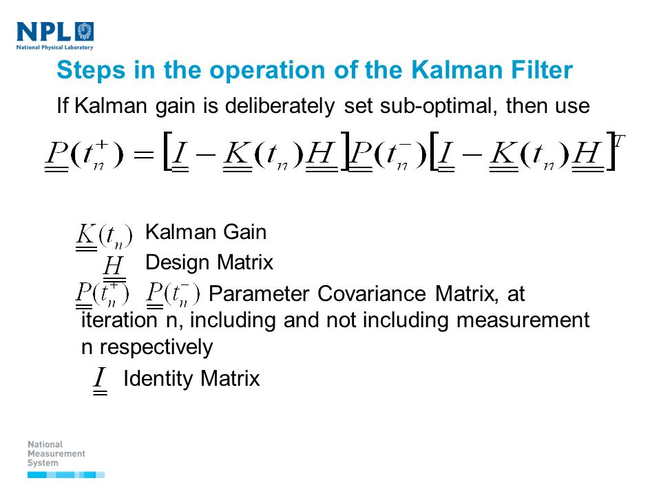 Use of Kalman filters in time and frequency analysis John Davis 1st