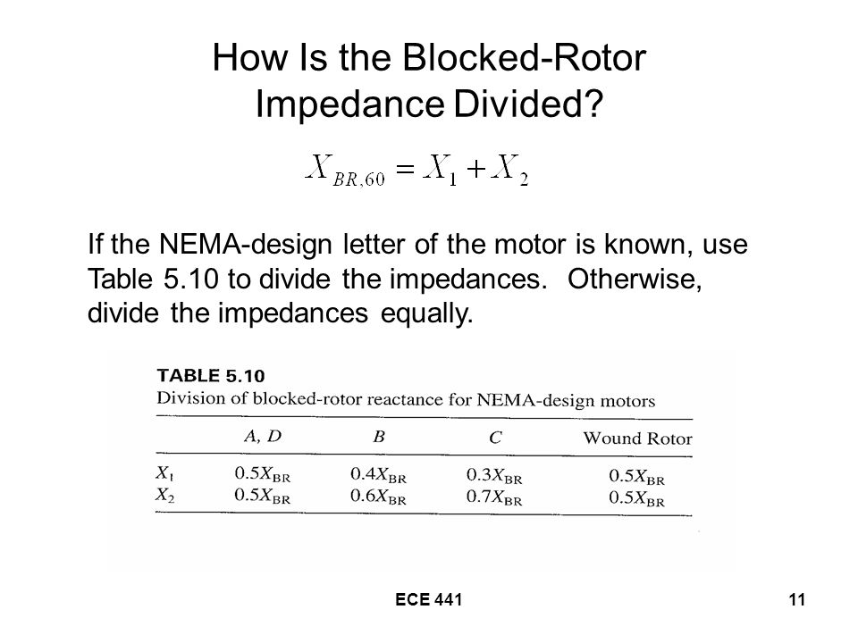 ECE How Is the Blocked-Rotor Impedance Divided.