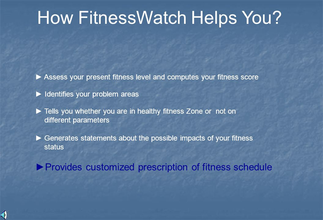 How FitnessWatch Helps You.