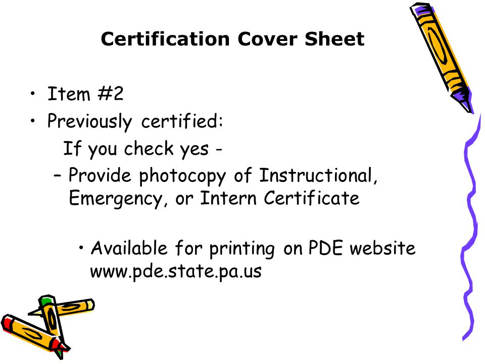 Processing Your Application For The Instructional Certificate Ppt