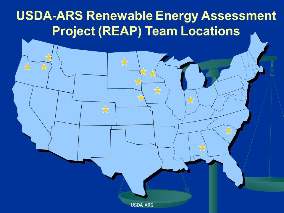 USDA-ARS USDA-ARS Renewable Energy Assessment Project (REAP) Team Locations