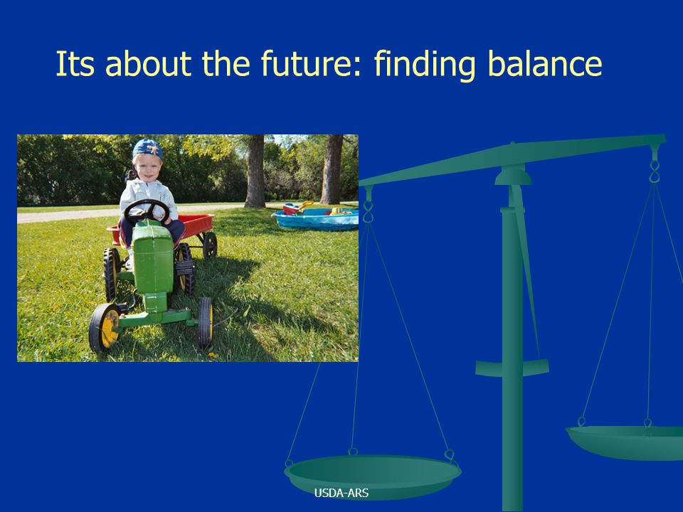 USDA-ARS Its about the future: finding balance