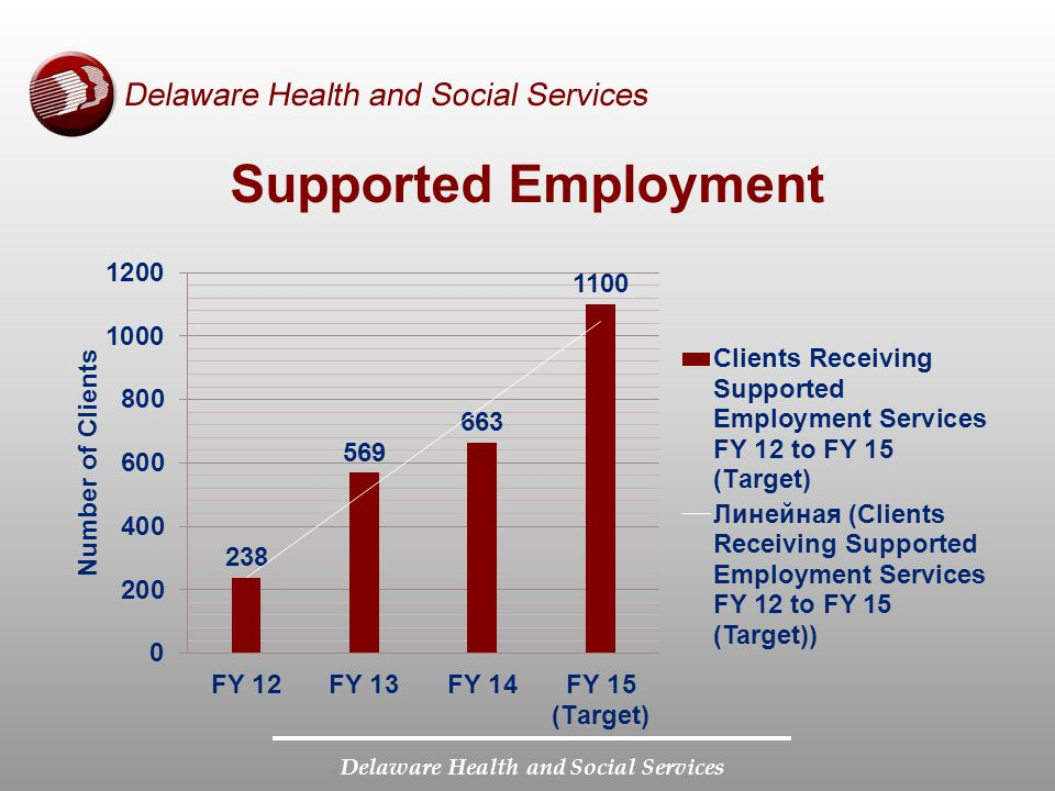 Delaware Health and Social Services Supported Employment