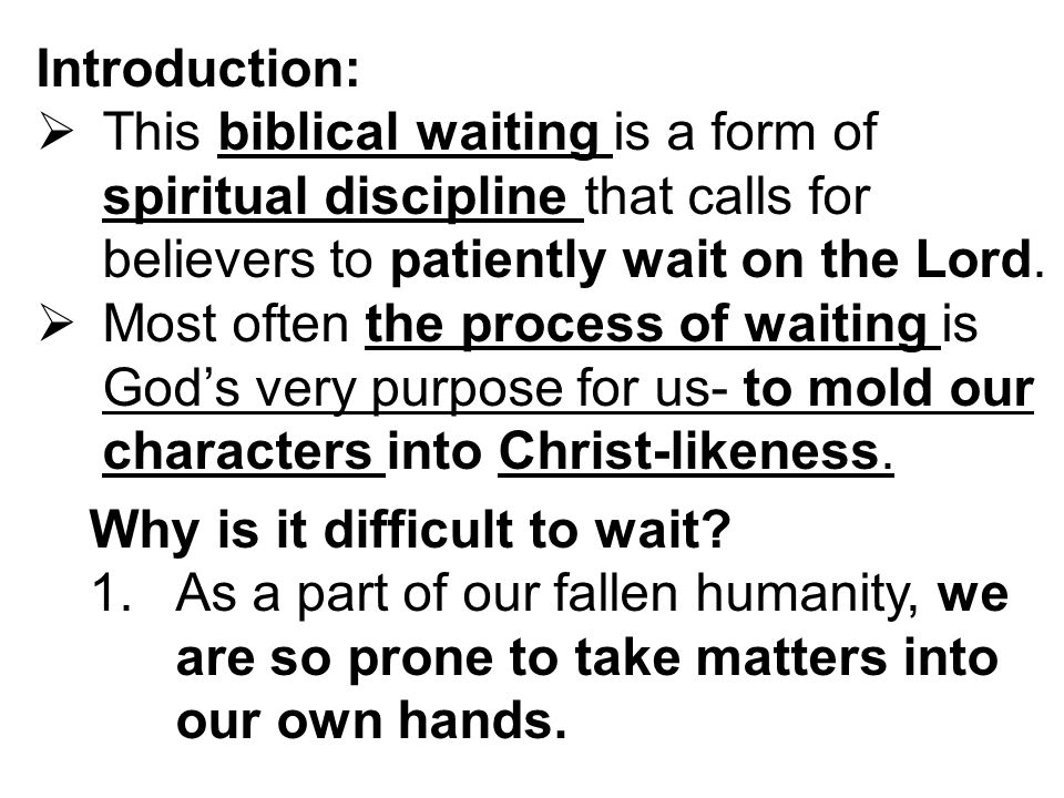 WAITING ON THE LORD PSALM 130:5-6 ISAIAH 40: ppt download