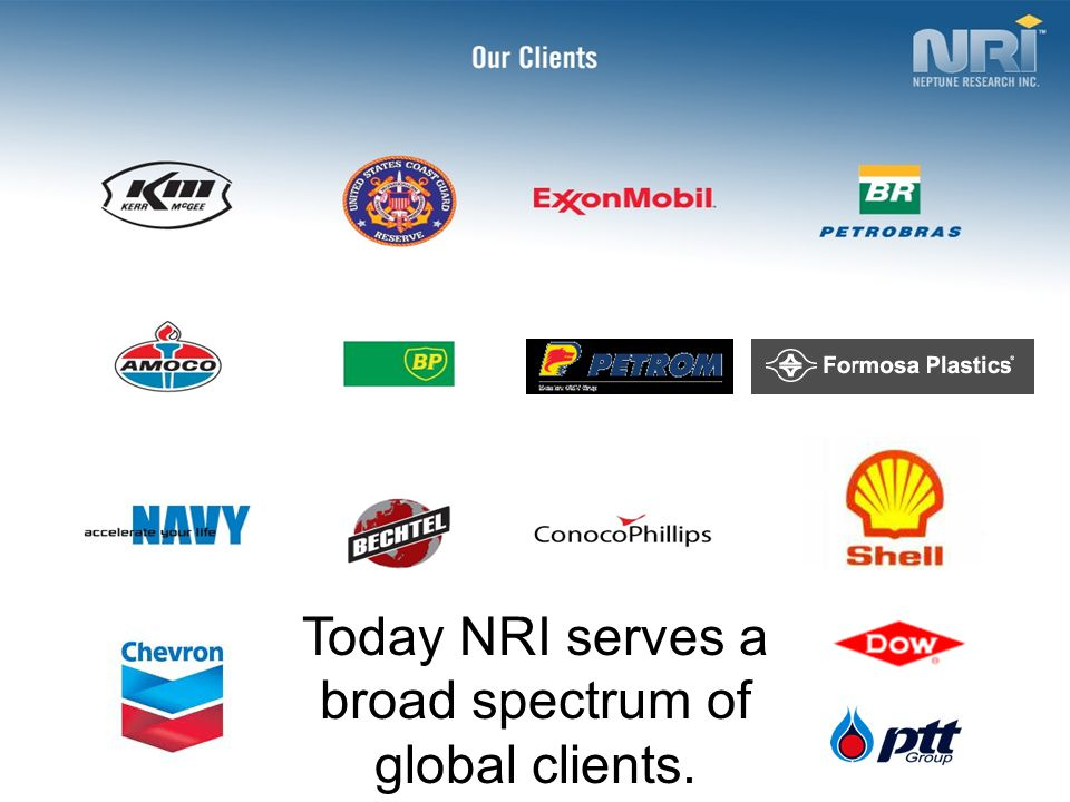 Today NRI serves a broad spectrum of global clients.
