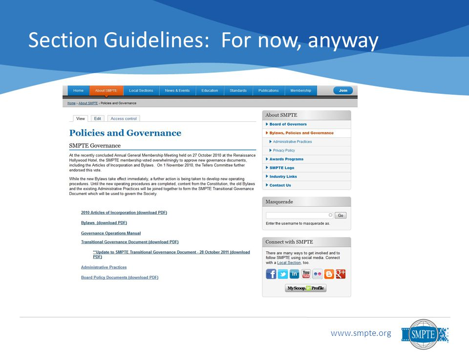 Section Guidelines: For now, anyway