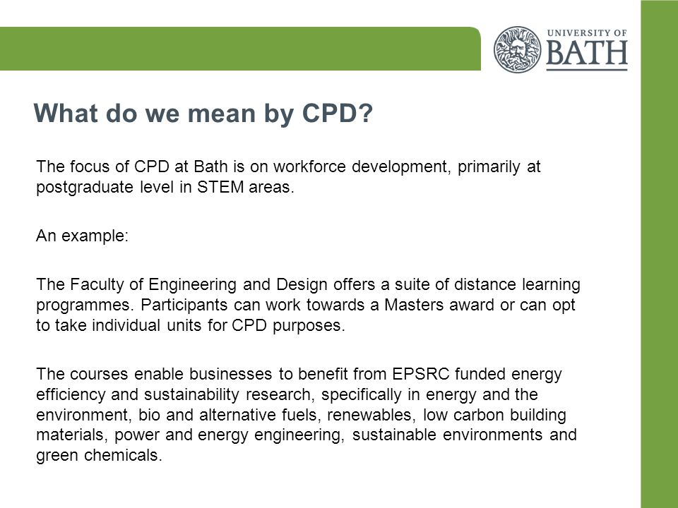 What do we mean by CPD.