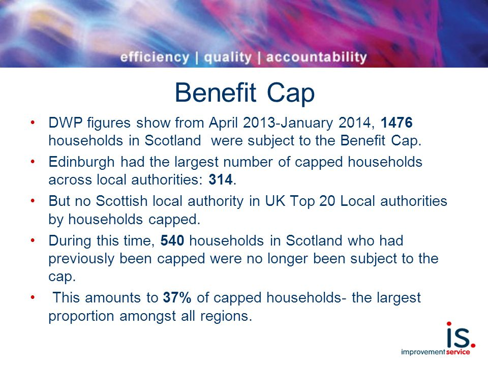 Benefit Cap DWP figures show from April 2013-January 2014, 1476 households in Scotland were subject to the Benefit Cap.