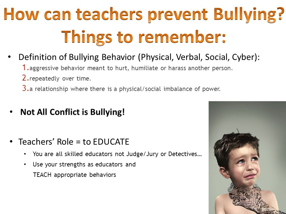 Definition of Bullying Behavior (Physical, Verbal, Social, Cyber): 1.
