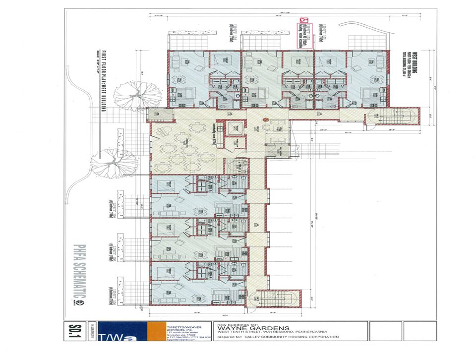 Wayne Gardens Senior Building Schematics Project contains 40 rental ...
