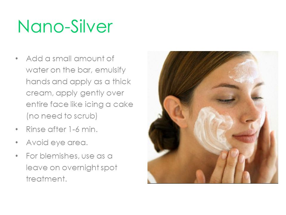 Add a small amount of water on the bar, emulsify hands and apply as a thick cream, apply gently over entire face like icing a cake (no need to scrub) Rinse after 1-6 min.
