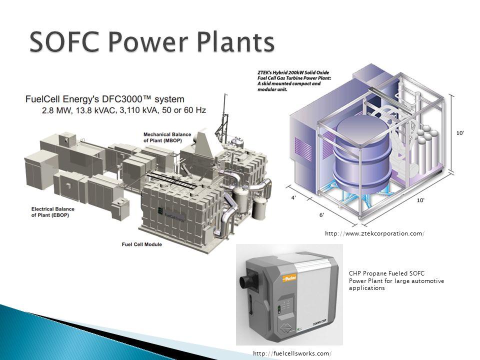Melissa Tweedie May 1, CHP Propane Fueled SOFC Power Plant