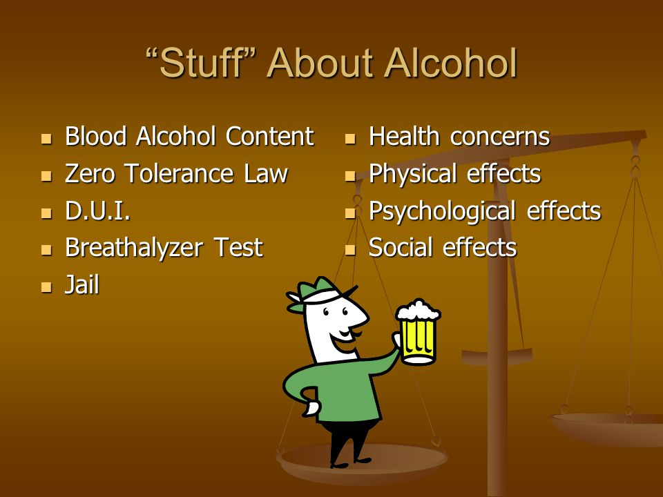 What type of drug is alcohol. Stimulant. Depressant.