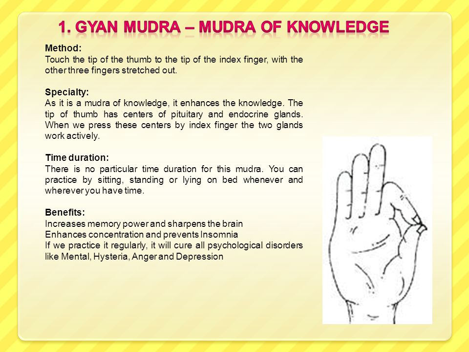This presentation deals with ten important Mudras that can