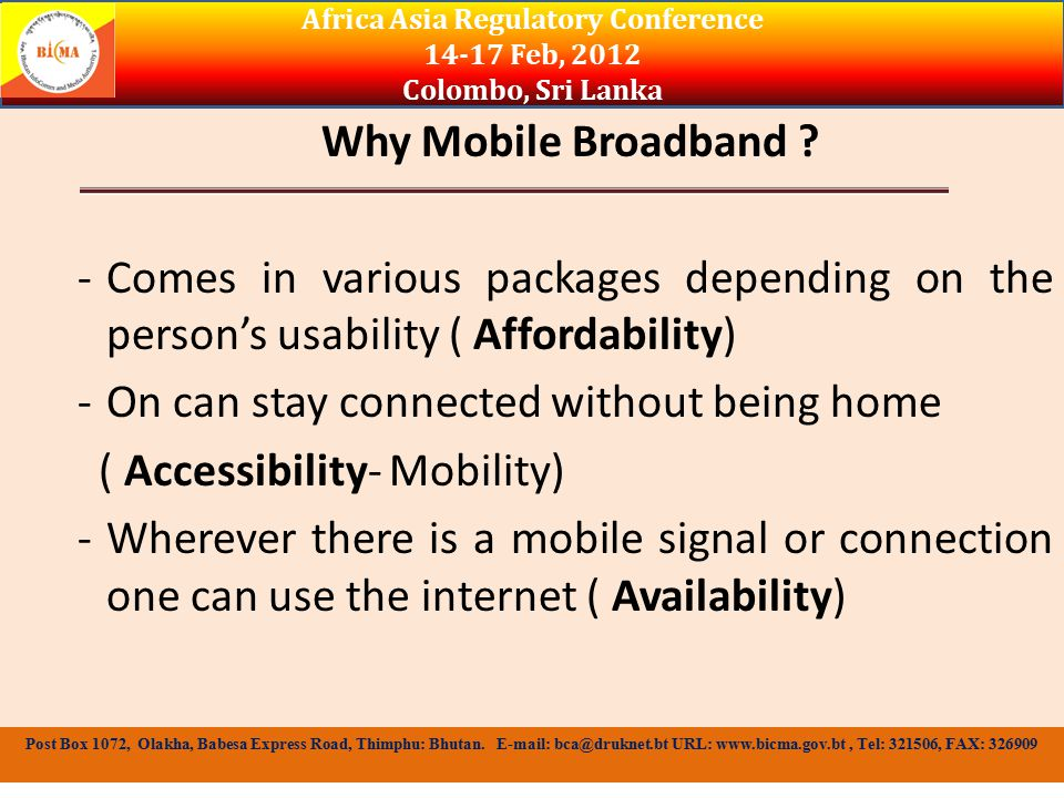 Why Mobile Broadband .