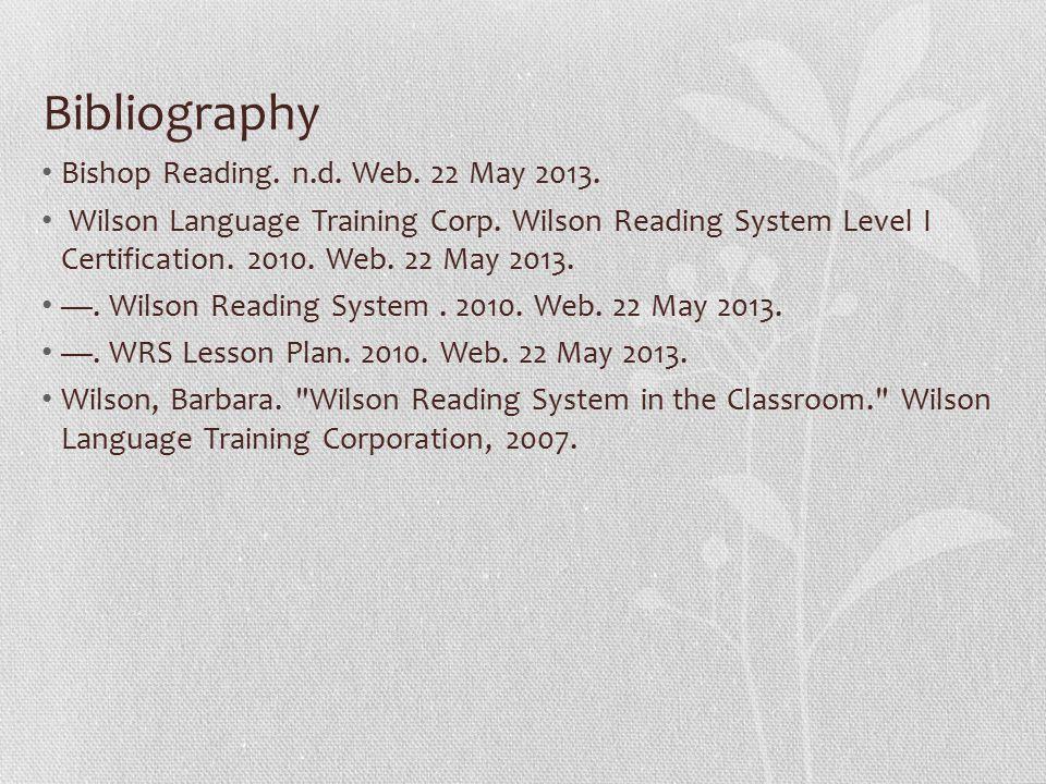Cassie Anderson Wilson Reading System Background Barbra A Wilson