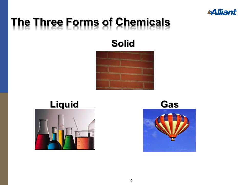 Solid Liquid Gas 9