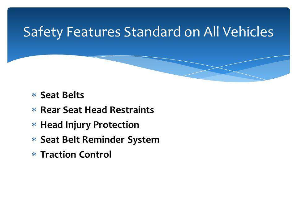 Penn Liberty Motors Safety Features  Seat Belts  Rear Seat Head