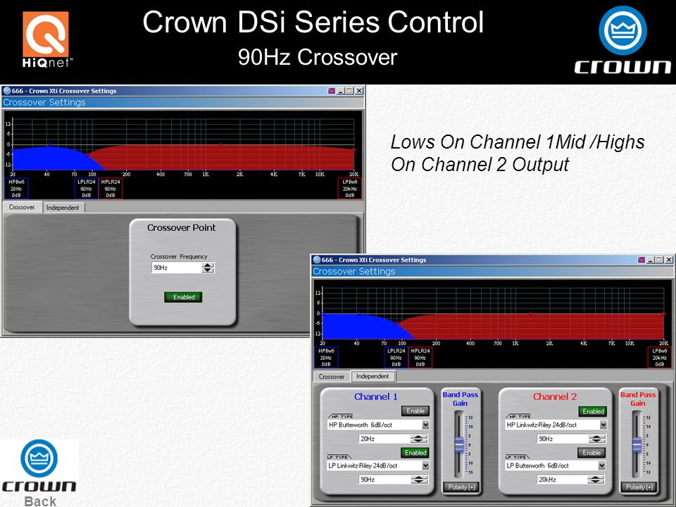 Crown DSi Series Control Click the Crown Logo at the top of