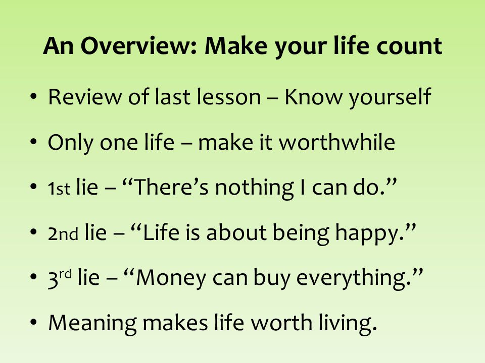 Make Your Life Count Discover What Really Matters Paul T P