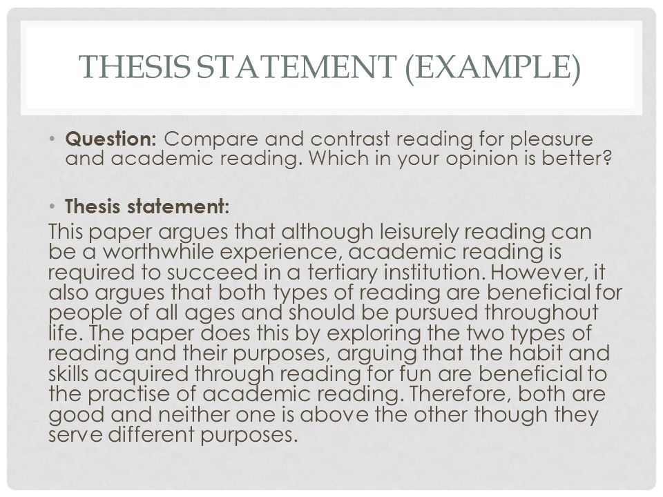 one purpose of a thesis statement is to A statement of the problem is used in research work as a claim that outlines the problem addressed by a study a good research problem should address an existing gap in knowledge in the field and lead to further research to write a persuasive problem statement, you need to describe (a) the ideal.