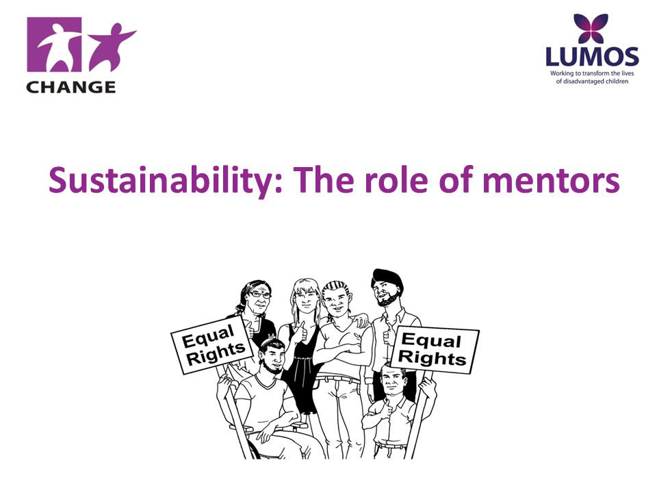 Sustainability: The role of mentors