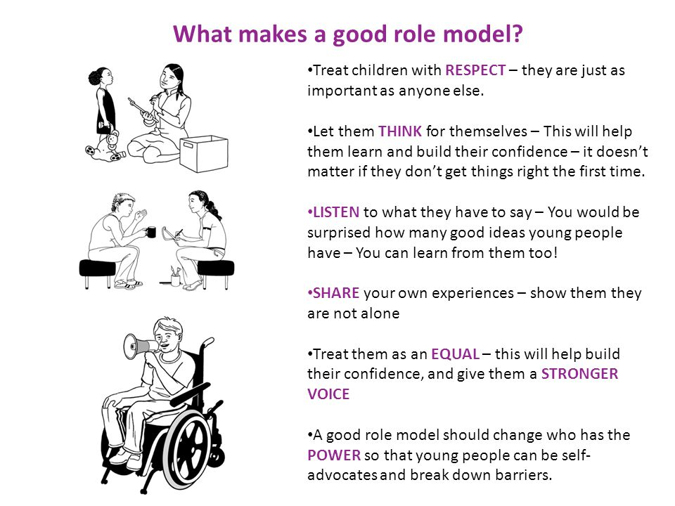 What makes a good role model.