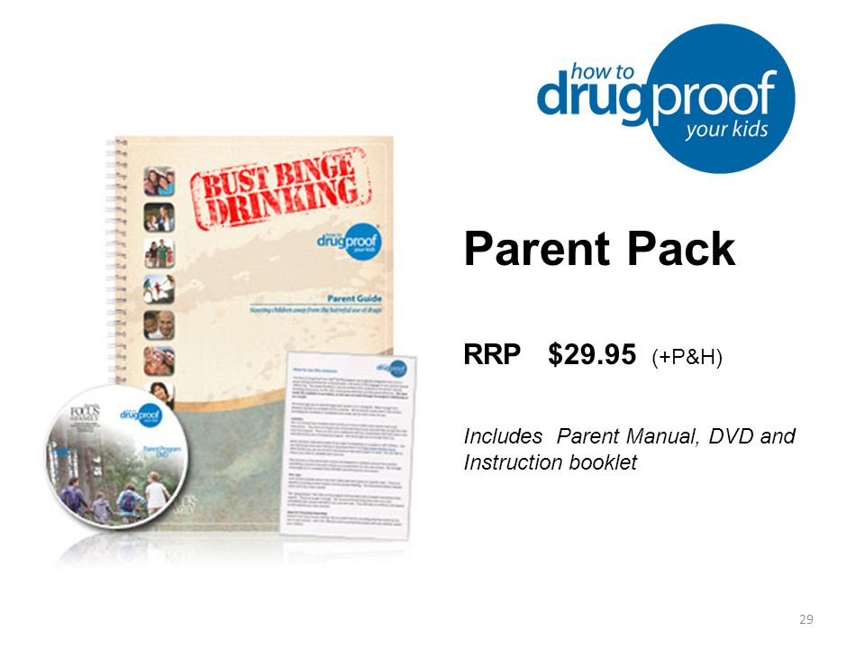 29 Parent Pack RRP $29.95 (+P&H) Includes Parent Manual, DVD and Instruction booklet