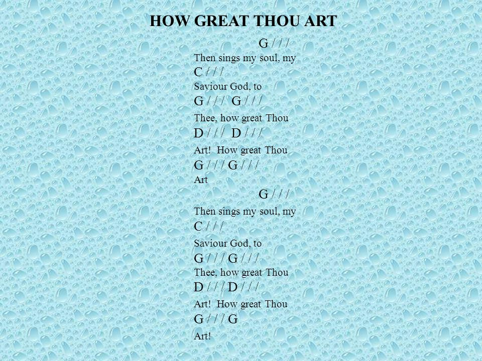 Beautiful How Great Thou Art Chords Piano Component - Beginner ...