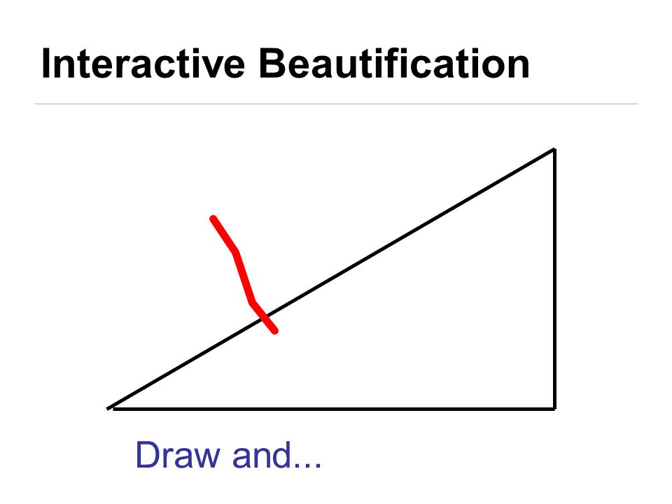 Draw and... Interactive Beautification