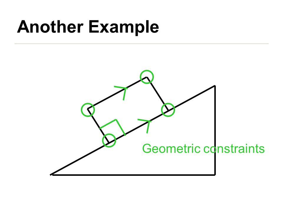 Geometric constraints Another Example