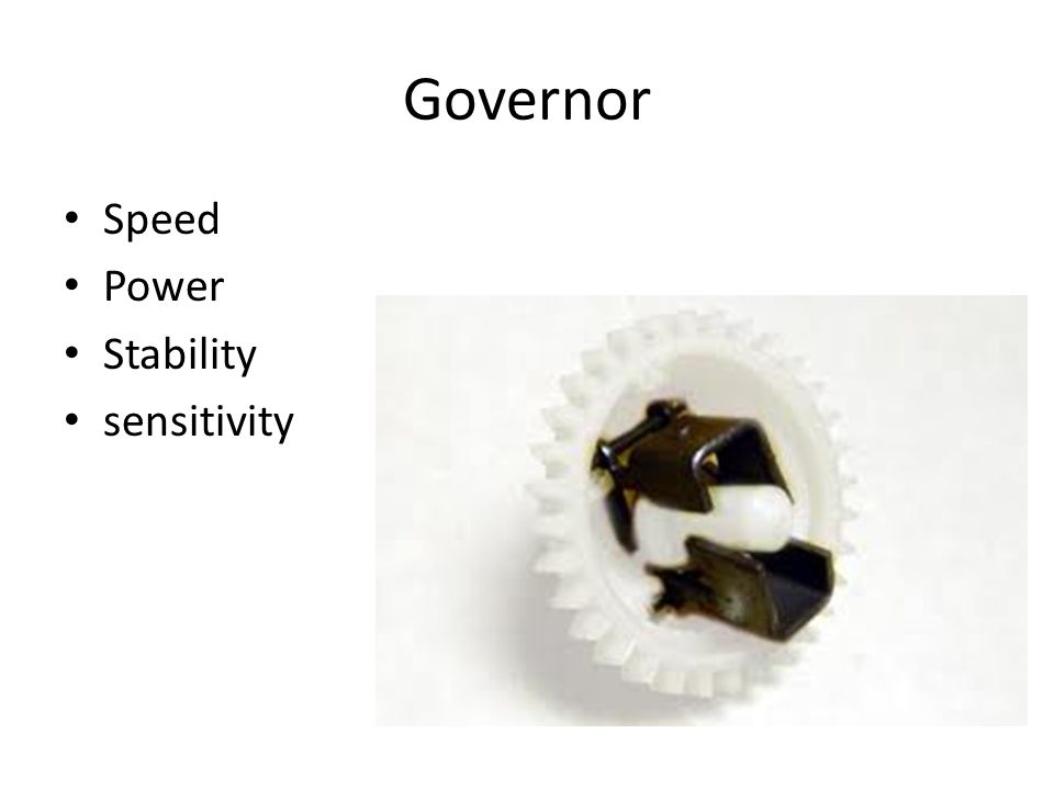 Governor Speed Power Stability sensitivity