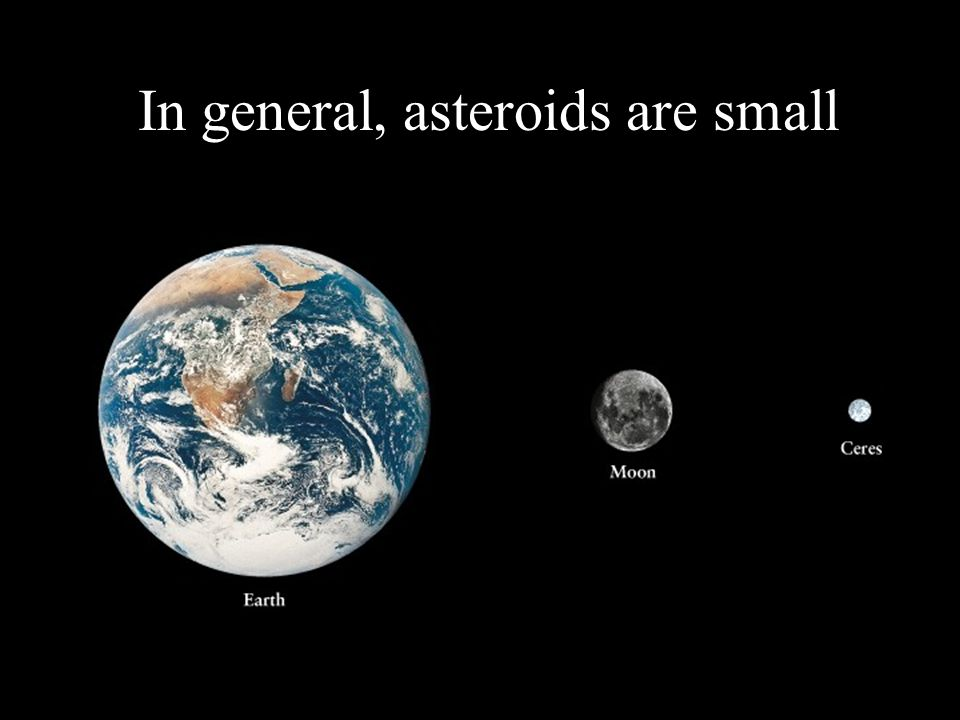 In general, asteroids are small