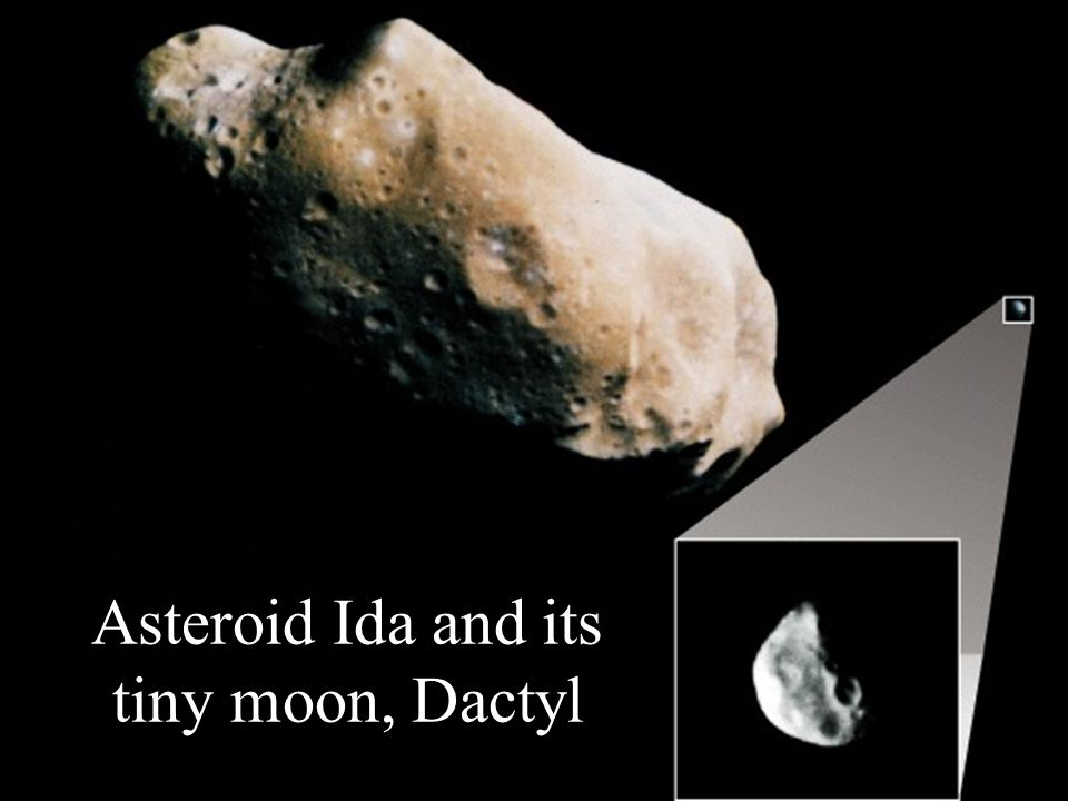 Asteroid Ida and its tiny moon, Dactyl