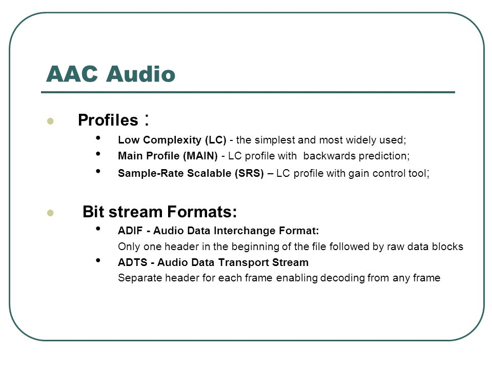 Multiplexing H 264/AVC Video with MPEG-AAC Audio Harishankar