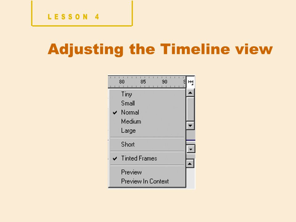 Adjusting the Timeline view