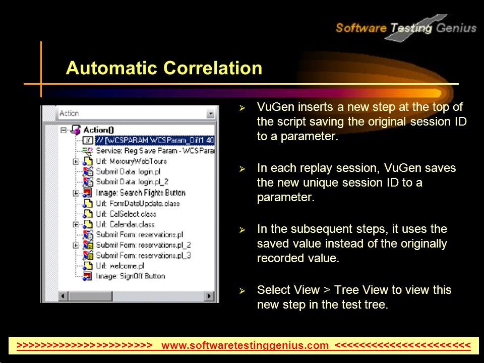 Understanding Correlation In HP LoadRunner