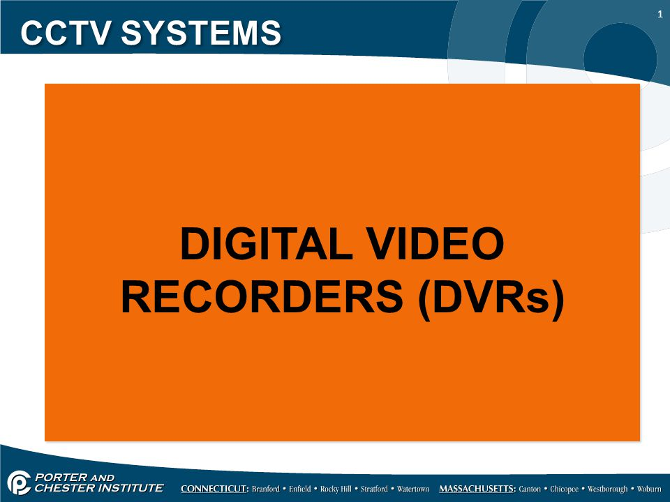 1 CCTV SYSTEMS DIGITAL VIDEO RECORDERS (DVRs)