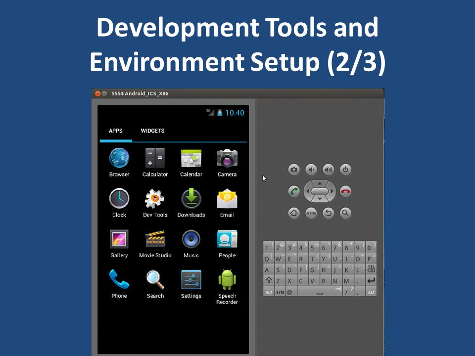 Development Tools and Environment Setup (2/3)