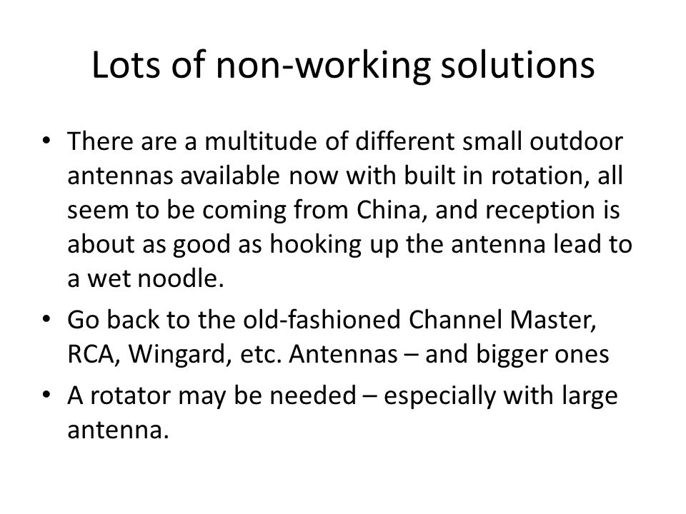 outdoor antenna hook up