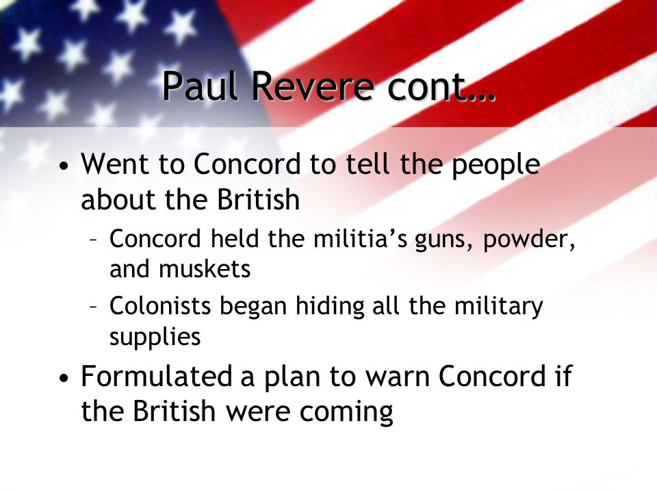 Who Was Paul Revere. B. January 1, 1735 D.
