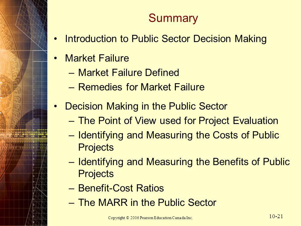 define public sector failure