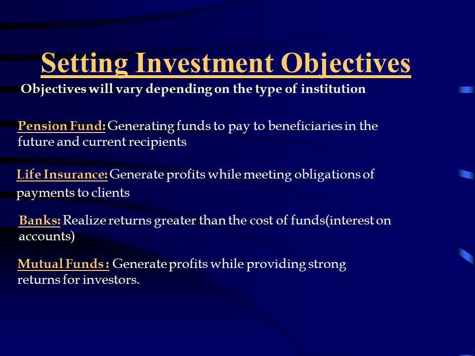 Investment objectives of banks matt hightower ccf investments las vegas